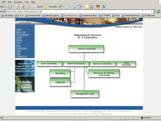 ORGANIZATIONAL STRUCTURE OF A COOPERATIVE