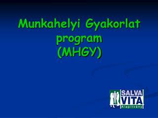 Munkahelyi Gyakorlat program (MHGY)