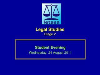 Legal Studies Stage 2