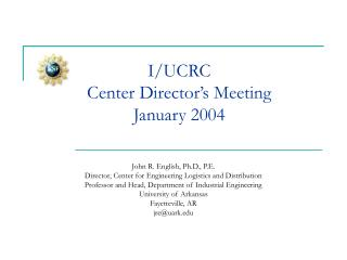 I/UCRC  Center Director's Meeting January 2004