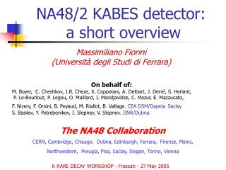 NA48/2 KABES detector:  a short overview