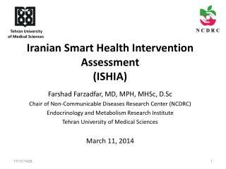 Iranian Smart Health Intervention Assessment  (ISHIA)