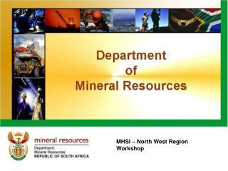 MHSI – North West Region Workshop
