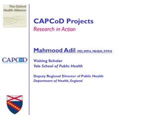 CAPCoD Projects Research in Action