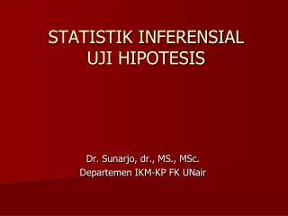 STATISTIK INFERENSIAL UJI HIPOTESIS