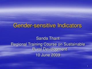 Gender-sensitive Indicators