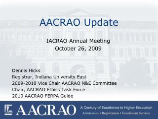 AACRAO Update