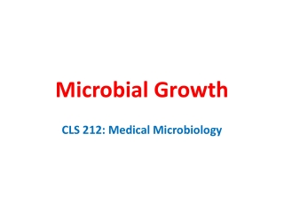MICROBIOLOGY   BACTERIAL GROWTH