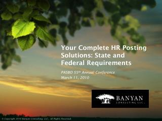 Your Complete HR Posting Solutions: State and Federal Requirements