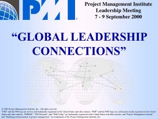 PMI'2000  Seminars & Symposium (S/S)  Advisory Group Program Area Updates 8 September 2000