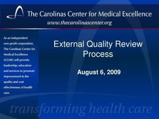 External Quality Review Process