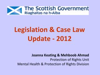 Legislation & Case Law Update - 2012