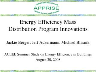 Energy Efficiency Mass Distribution Program Innovations