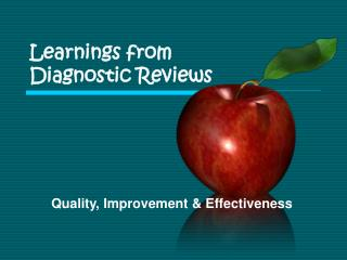 Learnings from  Diagnostic Reviews