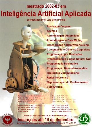 Análise de Corpora  Agentes  Aprendizagem Automática  Aprendizagem e Data Mining