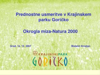 Okrogla miza-Natura 2000