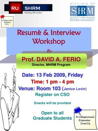 Resume & Interview Workshop By