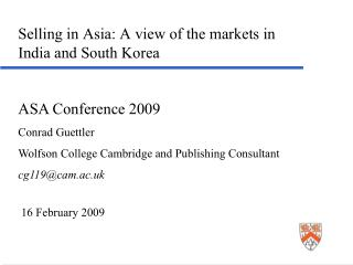 Selling in Asia: A view of the markets in India and South Korea