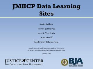 JMHCP Data Learning Sites