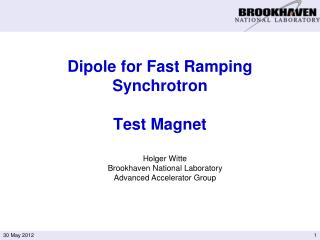 Dipole for Fast Ramping Synchrotron Test Magnet