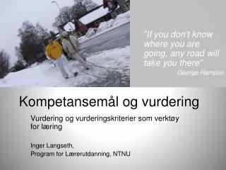 Kompetansem l og vurdering