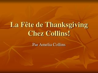 La F ête de Thanksgiving Chez Collins!