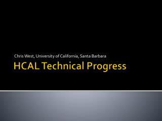 HCAL Technical Progress