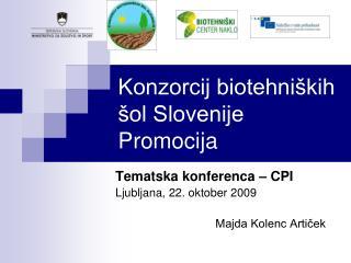 Konzorcij biotehniških šol Slovenije Promocija