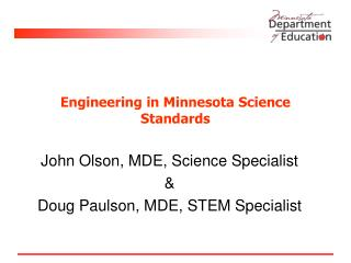 Engineering in Minnesota Science Standards