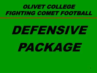 OLIVET COLLEGE FIGHTING COMET FOOTBALL