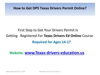 How to Get DPS Texas Drivers Permit Online?