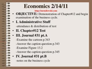 Economics 2/14/11  mrmilewski