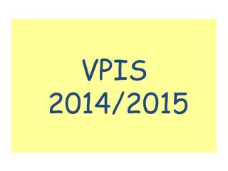 VPIS 2014/2015