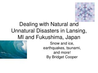 Dealing with Natural and Unnatural Disasters in Lansing, MI and Fukushima, Japan