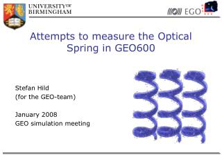 Attempts to measure the Optical Spring in GEO600
