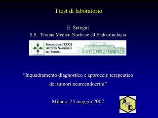 E. Seregni S.S.  Terapia Medico-Nucleare ed Endocrinologia