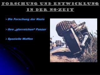 Forschung und Entwicklung  in der NS-Zeit
