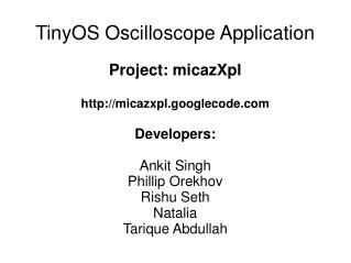 TinyOS Oscilloscope Application