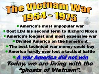 America's most unpopular war Cost LBJ his second term to Richard Nixon