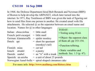 CS1110    16 Sep 2008