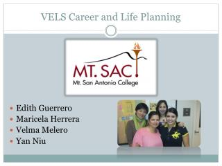 VELS Career and Life Planning