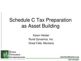 Schedule C Tax Preparation as Asset Building