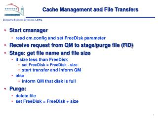 Cache Management and File Transfers