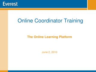 Online Coordinator Training