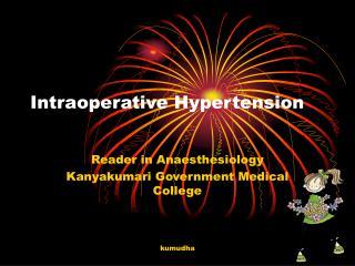Intraoperative Hypertension