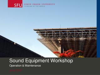 Sound Equipment Workshop