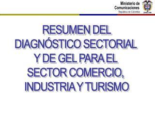 RESUMEN DEL DIAGNÓSTICO SECTORIAL  Y DE GEL PARA EL  SECTOR COMERCIO,  INDUSTRIA Y TURISMO