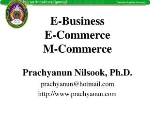 E-Business E-Commerce M-Commerce