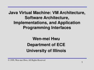 Wen-mei Hwu Department of ECE University of Illinois