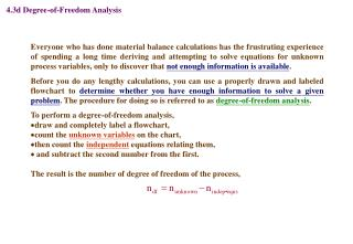 4.3d Degree-of-Freedom Analysis